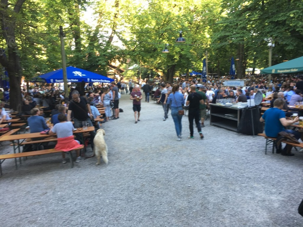 A German beer garden
